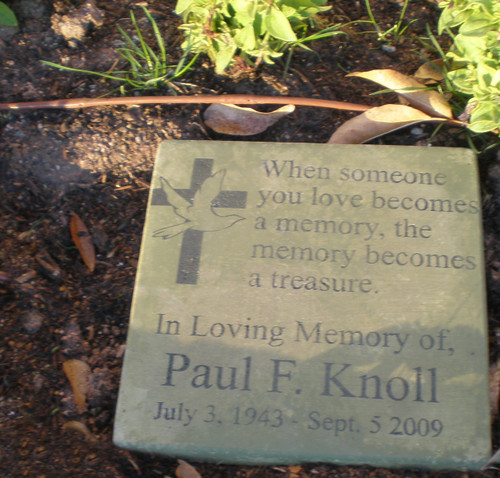 "Personalized Engraved Memorial Garden Stone 11.5""x11.5"" 'When someone you love...'"