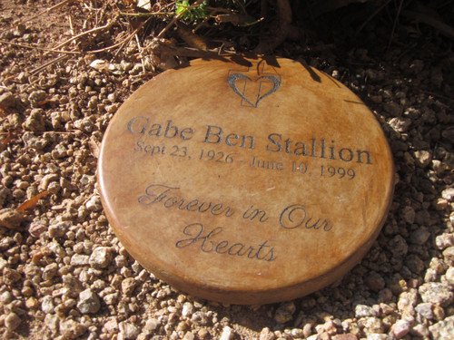 """Personalized Engraved Memorial Garden Stone 11"""" Forever in Our Hearts"""