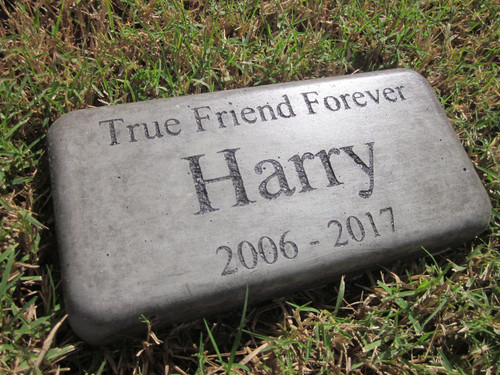 """Personalized Engraved Pet Memorial  Stone 8""""x4""""(Brick Size)True Friend Forever'"""