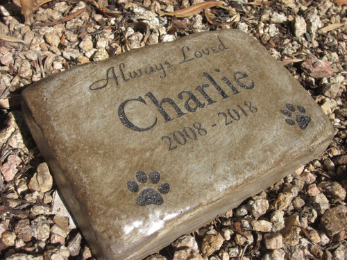 "Personalized Engraved Pet Memorial  Stone 8.5""x5.5"" Always Loved"