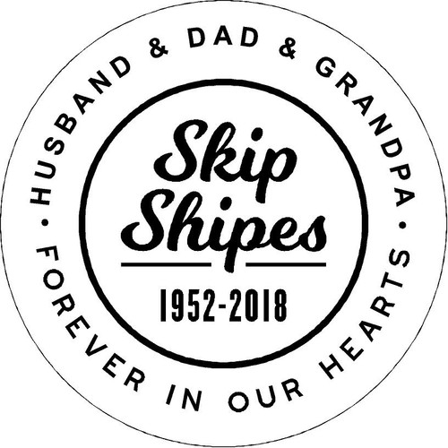 "Personalized Engraved Memorial Garden Stone 11"" Diameter  Skip Shapes"