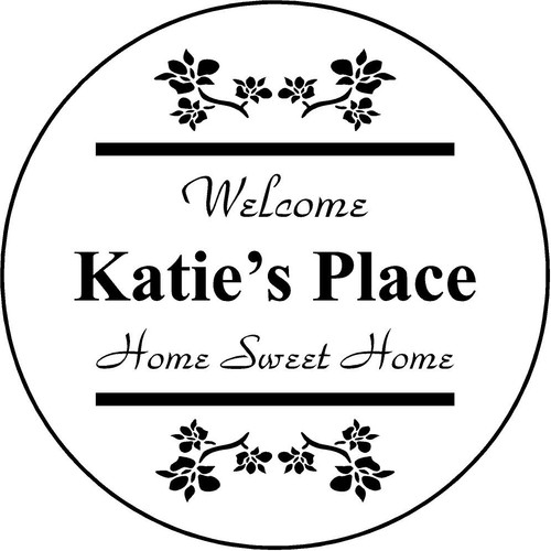 "Copy of Family Memories Step Stone 13.5"" Diameter 'Home Sweet Home'	Katie's Place"