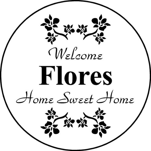 "Copy of Family Memories Step Stone11"" Diameter 'Home Sweet Home FLORES"