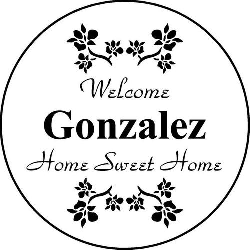 "Family Memories Step Stone 11"" Diameter 'Home Sweet HomeFSS112_HSH_Gonzalez"