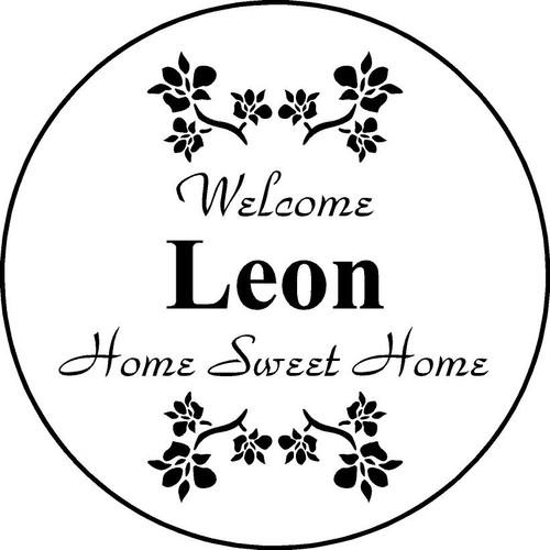 "Family Memories Step Stone 11"" Diameter 'Home Sweet Home FSS112_HSH_Leon"