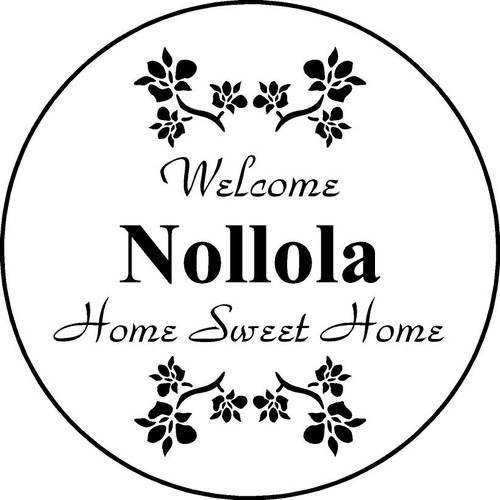 "Family Memories Step Stone 11"" Diameter 'Home Sweet HomeFSS112_HSH_Nollola"