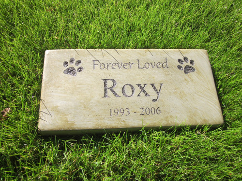 """Personalized Engraved Pet Memorial  Stone 11.5""""x 5.5"""" Forever Loved"""
