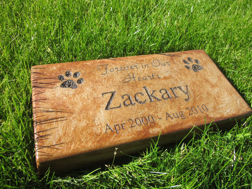 "Personalized Engraved Pet Memorial  Stone 11.5""x 5.5"" Forever in Our Hearts"