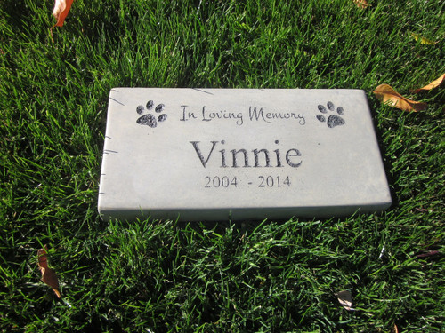 "Personalized Engraved Pet Memorial  Stone 11.5""x 5.5"" In Loving Memory"