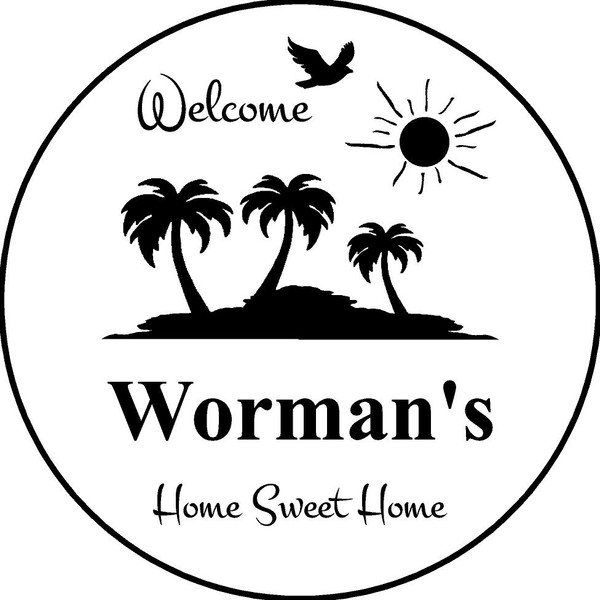 "Family Memories Step Stone 13.5"" Diameter 'Home Sweet Home'Worman's"