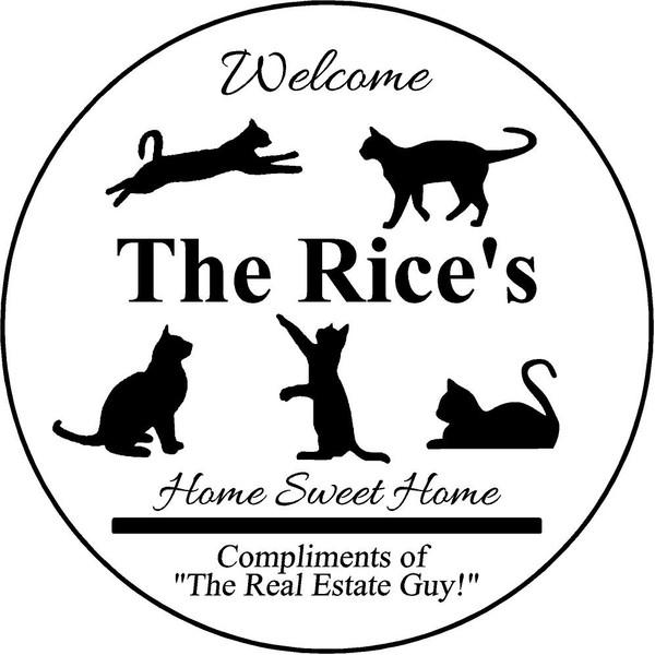 "Family Memories Step Stone 13.5"" Diameter 'Home Sweet Home The Rice's"