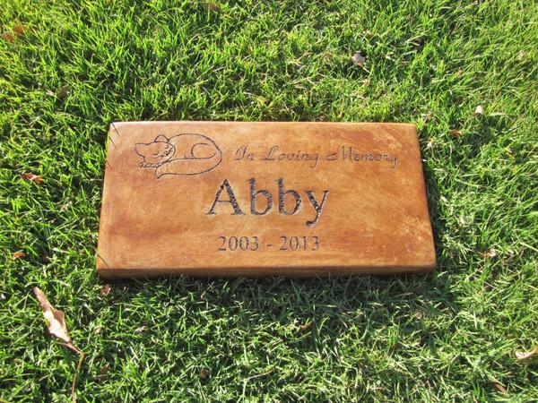 "Personalized Engraved Pet Memorial  Stone 11.5""x 5.5"" In Loving Memory (Cat)"
