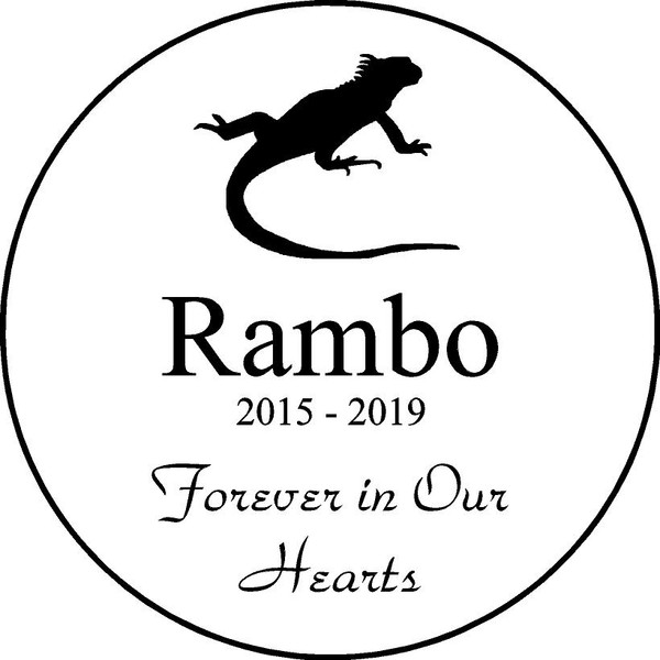 "Personalized Engraved Memorial  Stone 11"" Rambo_cusotm"