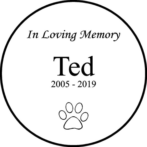"""Personalized Engraved Memorial  Stone 11"""" Ted_custom"""