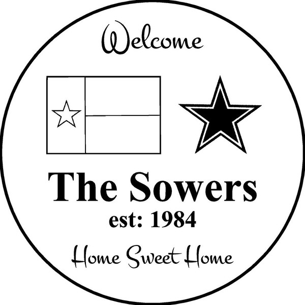 """Family Memories Step Stone 13.5"""" Diameter 'Home Sweet Home'The Sowers"""
