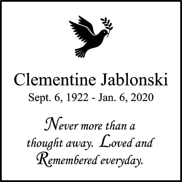 "Memories Step Stone 12""x12"" Clementine Jablonski_dove"