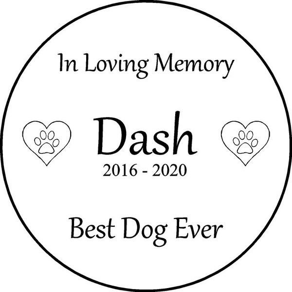 "Copy of Personalized Engraved Memorial  Stone 11"" Dash_custom"