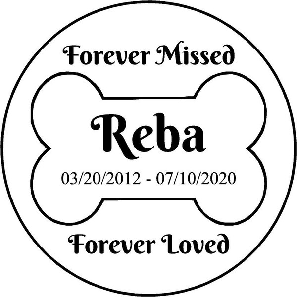 """Personalized Engraved Memorial  Stone 11"""""""