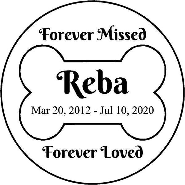 "Personalized Engraved Memorial  Stone 11"" Reba_custom"