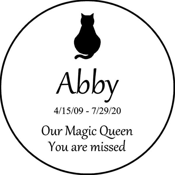 "Personalized Engraved Memorial Garden Stone 13.5""  Abby_custom"