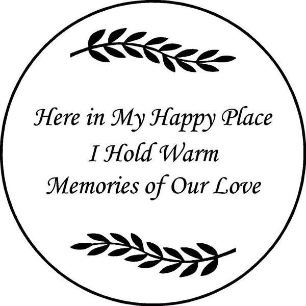 "Personalized Engraved Memorial  Stone 11""  Here in My Happy Place"