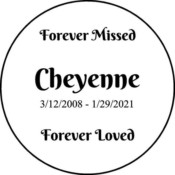 Personalized Engraved Memorial  Stone 11 Cheyenne_custom