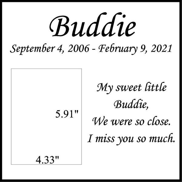 "Memories Step Stone 11.5""x11.5"" Buddie_"