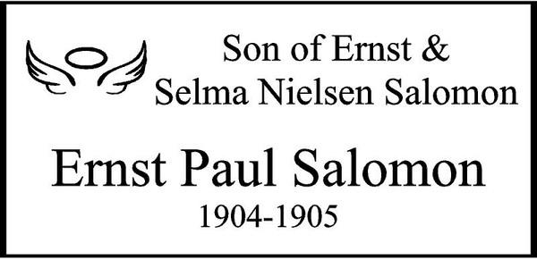 "Personalized Engraved Memorial  Stone 11.5 x 5.5"" ERNST PAUL SALOMON_cusotm"