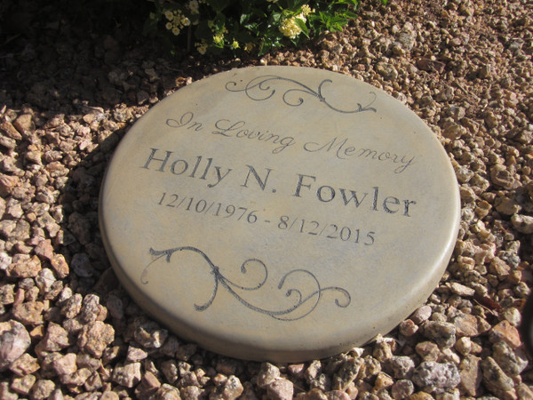 """Personalized Engraved Memorial Garden Stone 11"""" In Loving Memory Scroll"""