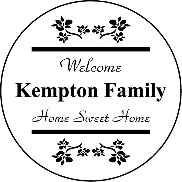"Family Memories Step Stone 13.5"" Diameter 'Home Sweet Home'	Kempton"