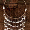 Coastal Boho Natural twine seashell necklace Wall Hanging wall art home Decor twine/seashell 75x35cm