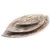 Hand carved Hampton  Style Wood tray leaf set of three 39x23,30x18,19x12 cm