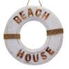 Coastal Beach House Life Buoy BEACH HOUSE  wall hanging Home Decor 47cm x 47cm