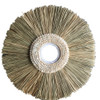 Distinctive textural wall decoration  made from natural fibre & sea shell 55cm x 55cm