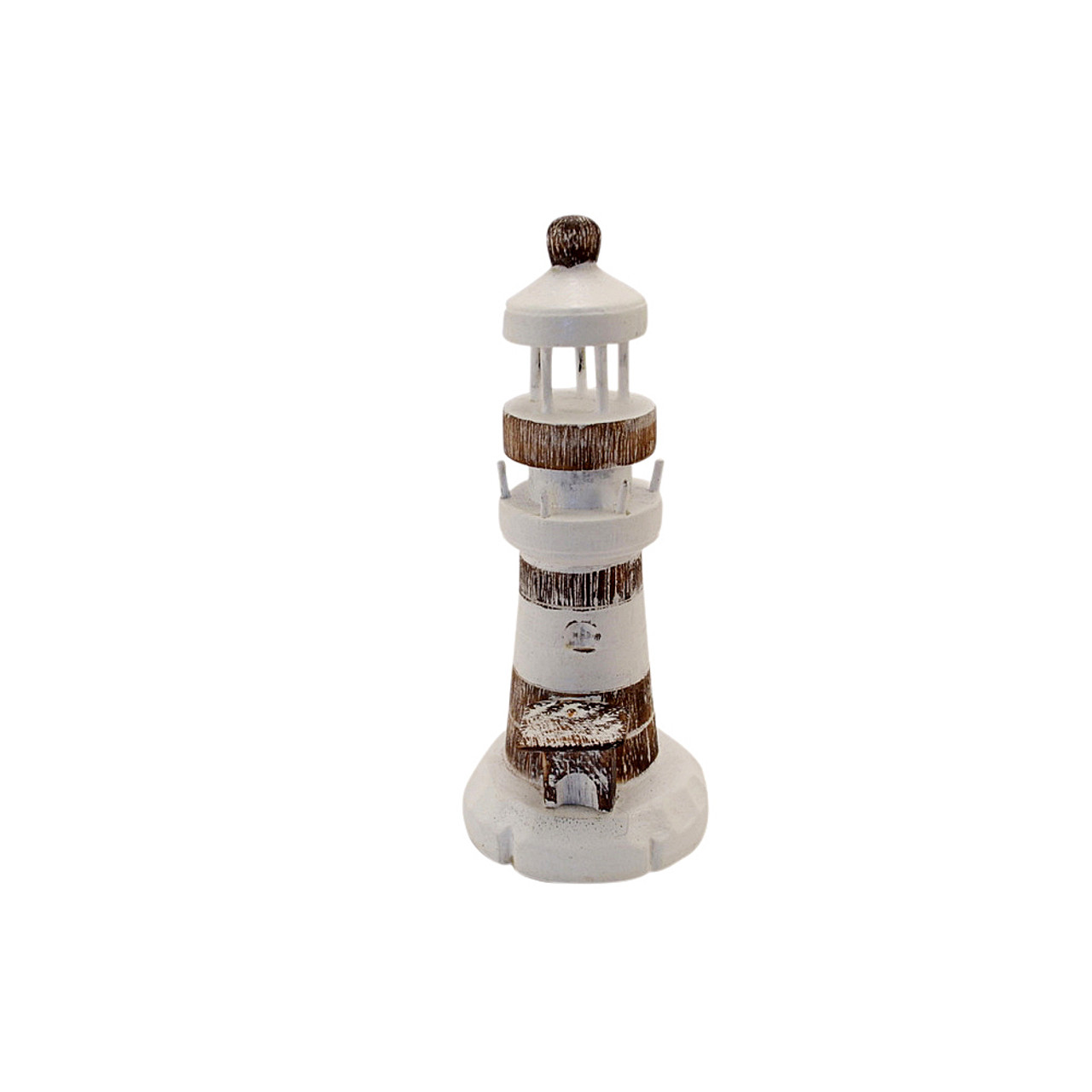 Table top hand carved light house table top accessory White/Natural Small 20  cn x 8 cm