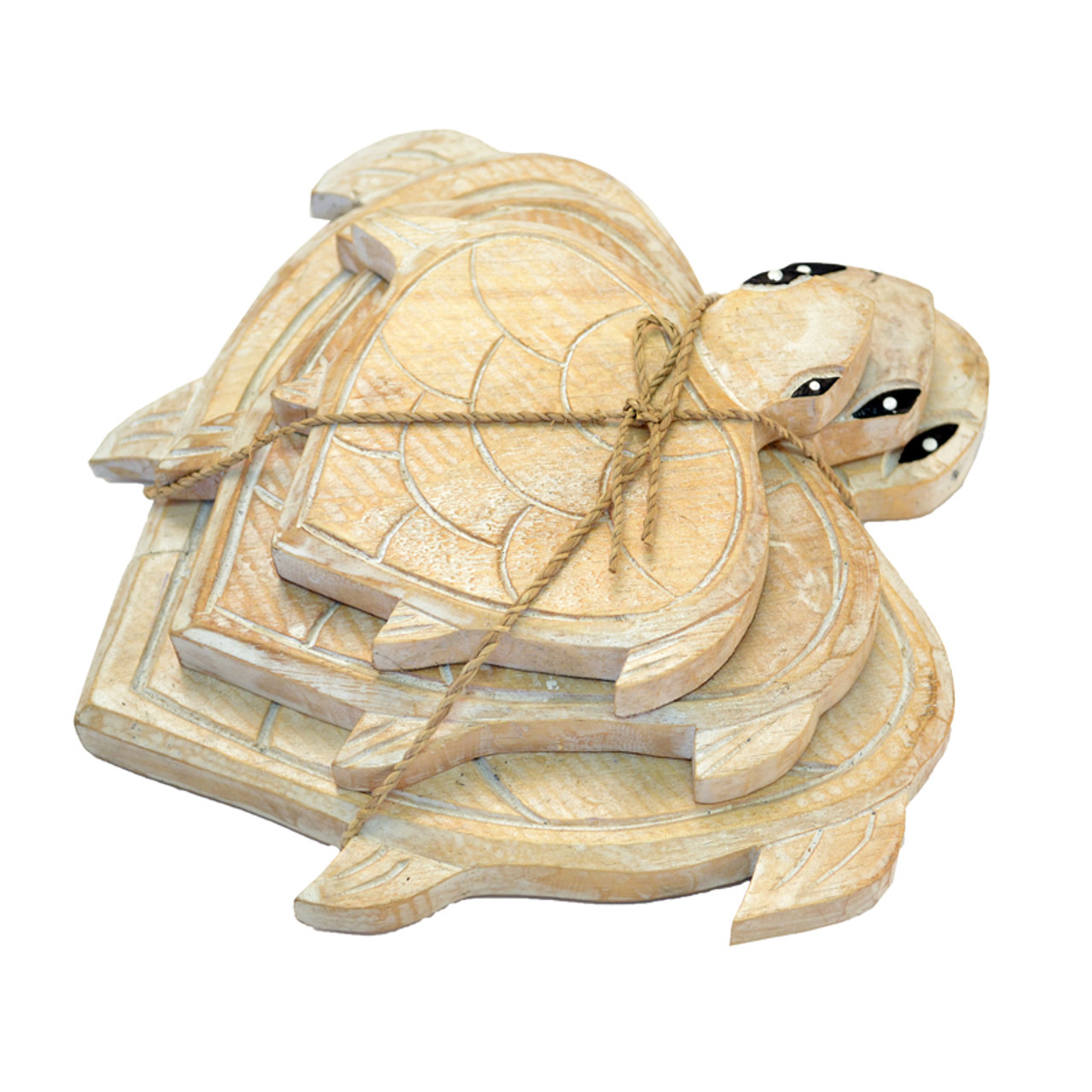 Bundle of three  Natural turtles Can be hung or free stand