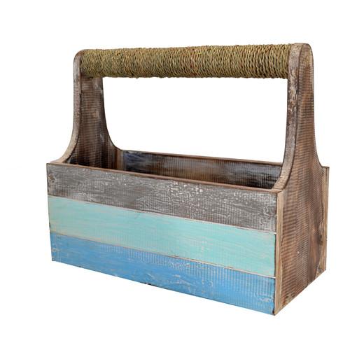 Rope Handle Slat Carry Box