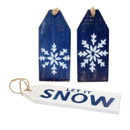 Snow Door Tags Set of 3 Just in time for Ski season