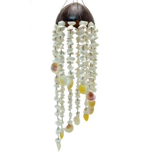 Mobile Coconut & Shell Spiral design White sea shells 70 x 30 cm