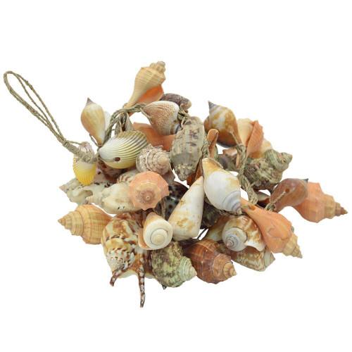 Beach Decor garland of hanging mixed shells 100cm long