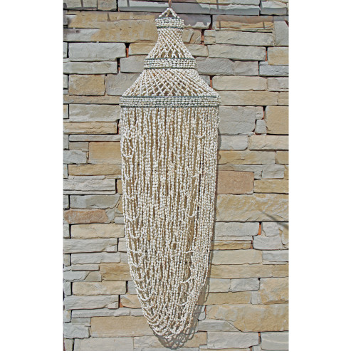 Coastal Beach House Style Sea Shell Chandelier Boho Style Home Decor Looped shell  100 cm x 30 cm 2 kgs