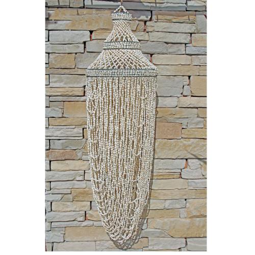 Coastal Beach House Style Sea Shell Chandelier Boho Style Home Decor Looped shell  100 cm x 30 cm 2 kgs