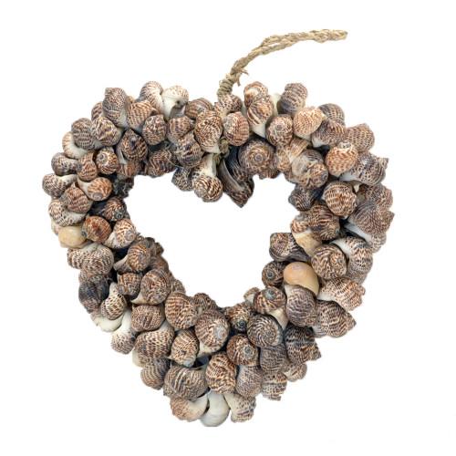 Shell Love heart wall hanging assorted shells 19cm x 19cm 0.300kgs