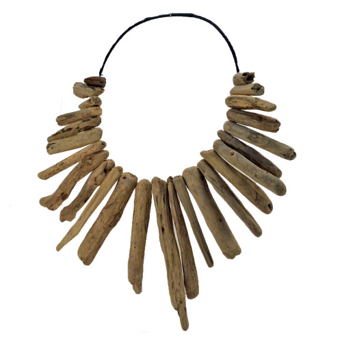 Boho driftwood necklace wall art  70cm x 60cm