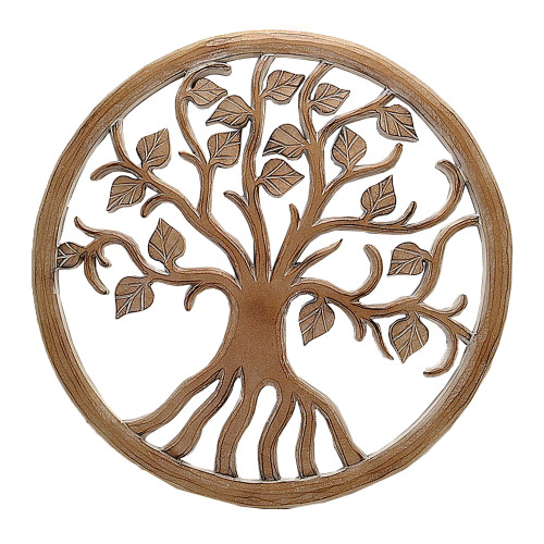 Tree of Life Wall art Boho  wall decor natural wash carved  SKU51003 60cm x 60cm  Also comes in white wash SKU 50818