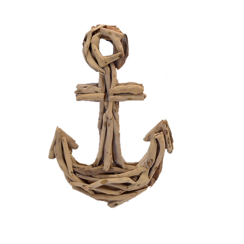 Beach House style driftwood anchor home decor wall hanging 25cm x 38cm Check out the matching ship wheel  SKU51024