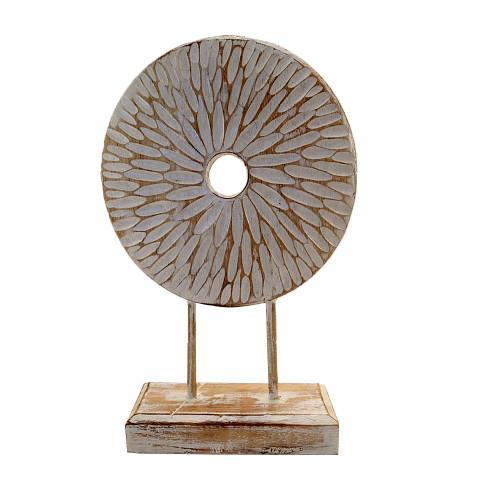 Coastal Beach House Flower disk on stand Hamptons Home Decor 36cm x 24cm