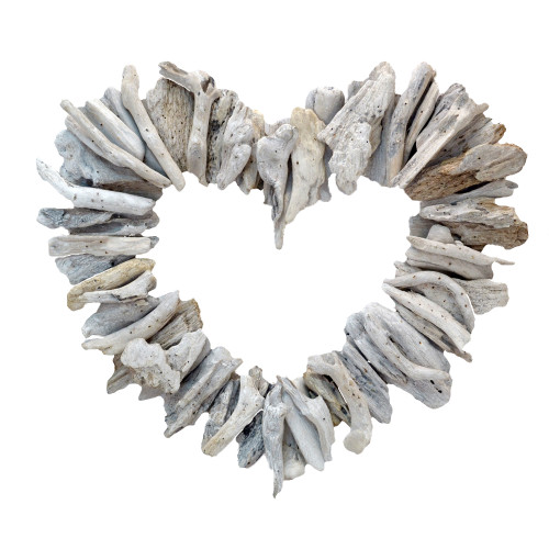 Driftwood Heart Hand Made Wall Hanging Home Decor Wall Art Home Decoration 40cm x 45cm