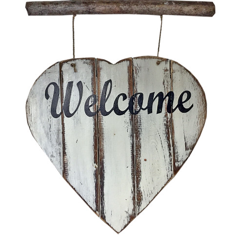 Welcome  heart wall hanging home decor  55cm x 30 cm
