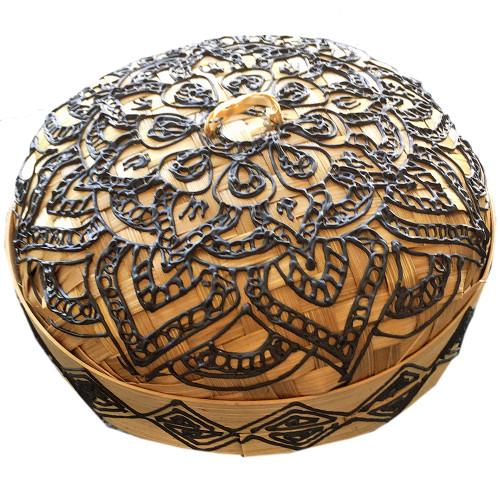 Mandala trinket storage basket 15cmx 15cm x 10cm